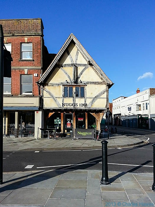 Nuggs, on the edge of the Market Square, Salisbury, photographed by Charles Hawes