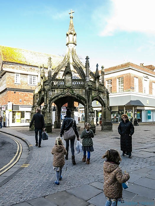 Poultry Cross, Salisbury, Wiltshire, photograhed by Charles Hawes