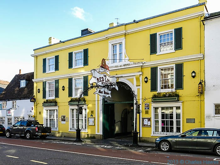 The Red Lion in Salisbury, photographed by Charles Hawes