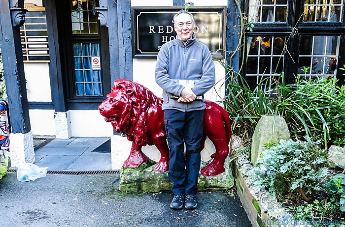 Charles Hawes at The Red Lion, Salisbury, photographed by Anne Wareham