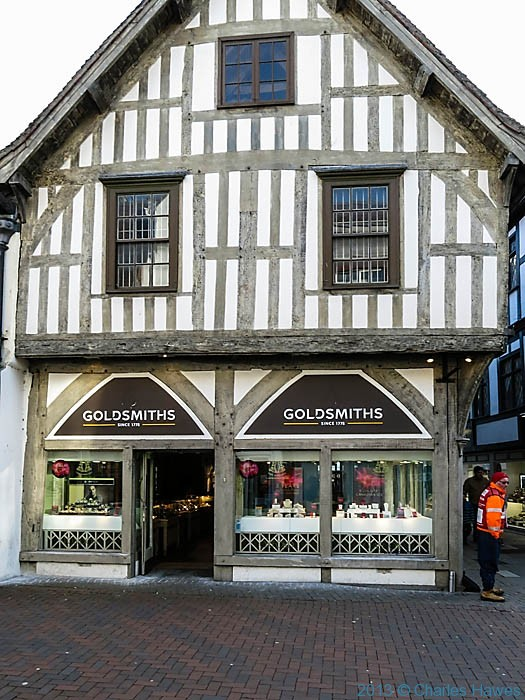 Goldsmiths jewellers in Salisbury, photographed by Charles Hawes