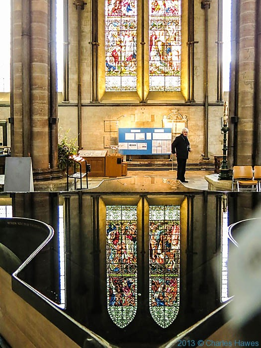 William Pye font in Salisbury catherdral photographed by Charles Hawes