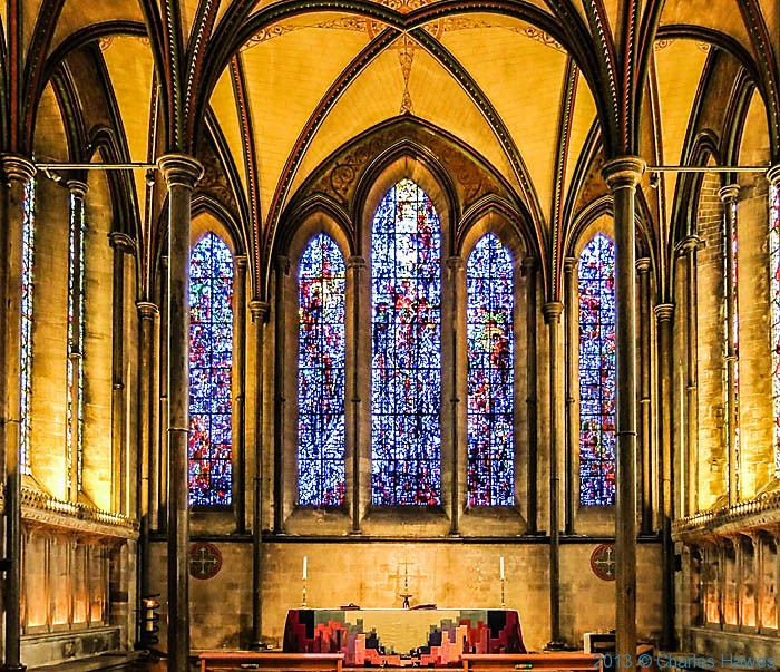 Prisoner of Conscience window in Salisbury catherdral, photographed by Charles Hawes