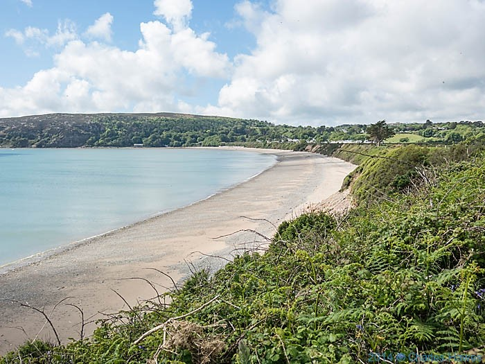 View to the beach at Llanbedrog photographed from The Wales Coast Path by Charles Hawes
