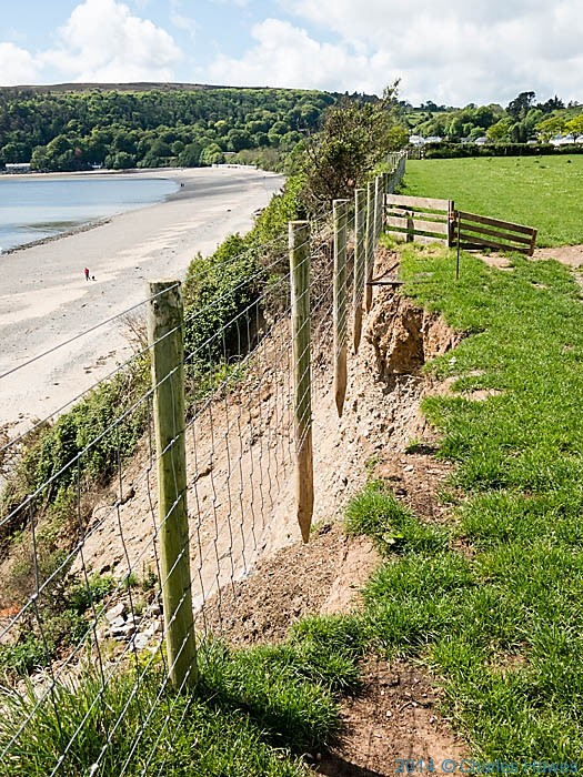 Collapsed cliff near Llanbedrog, photographed from The Wales Coast Path by Charles Hawes