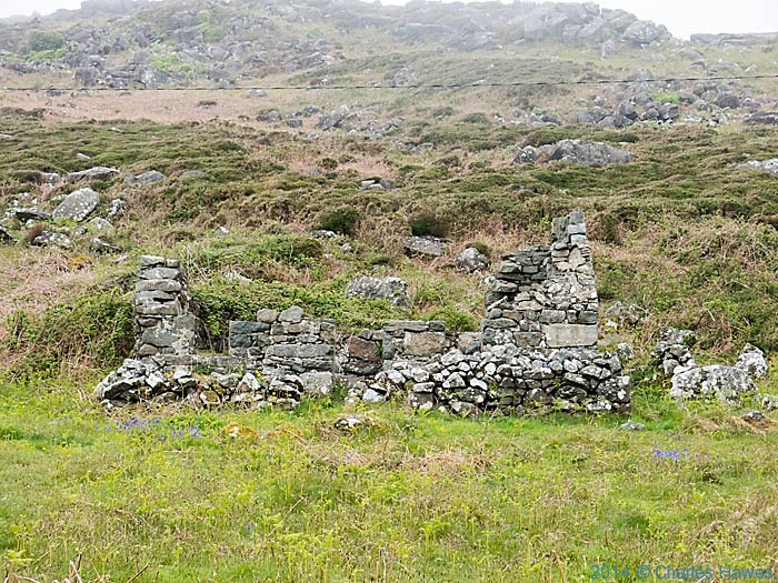 Ruined cottage near Rhiw, photographed from The Wales Coast Path by Charles Hawes