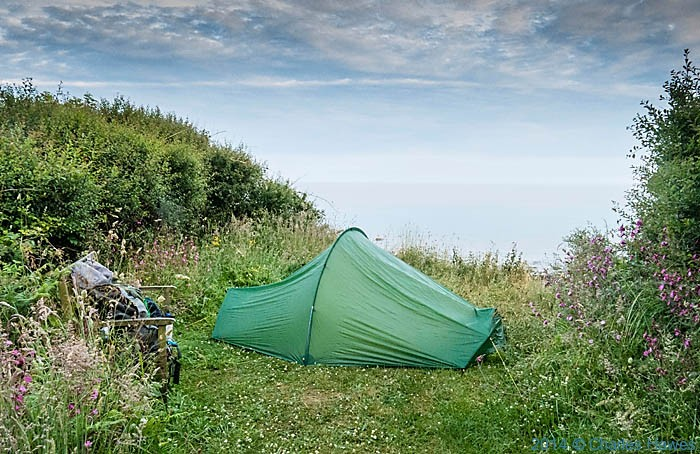 Wild camp off the A499 near Trefor, photgraphed by Charles Hawes