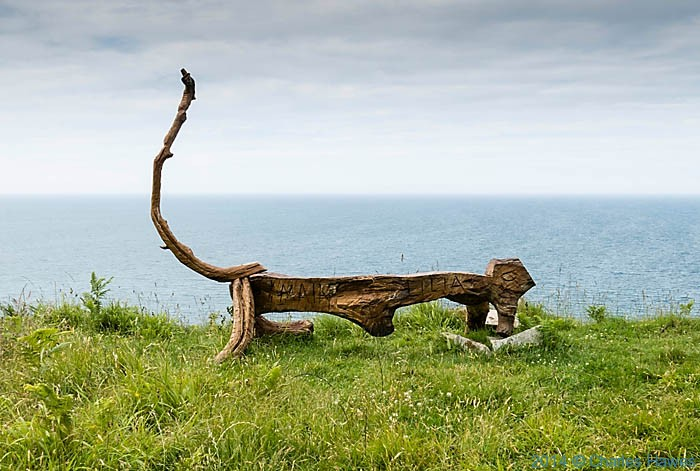 SCat sculpture near Porth y Nant, photographed from The Wales Coast Path by Charles Hawes