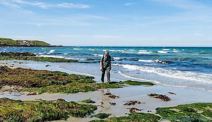 Walking on Penllech beach, Lleyn peninsula, photographed by Charles Hawes