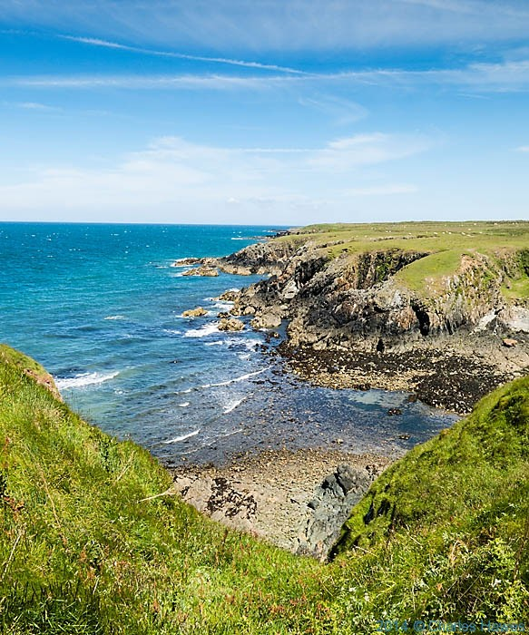 Porth y Chain on the Lleyn Peninsula, photographed from Thwe Wales Coast Path by Charles Hawes