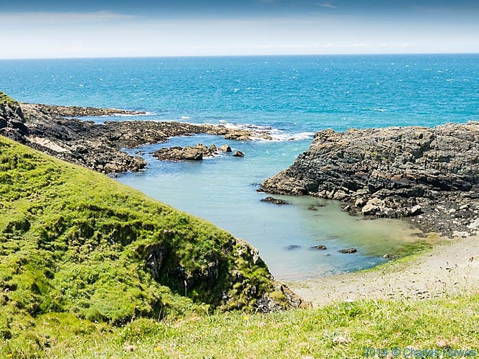 PorthGwylan, Lleyn peninsula,  photographed from The Wales Coast Path by Charles Hawes