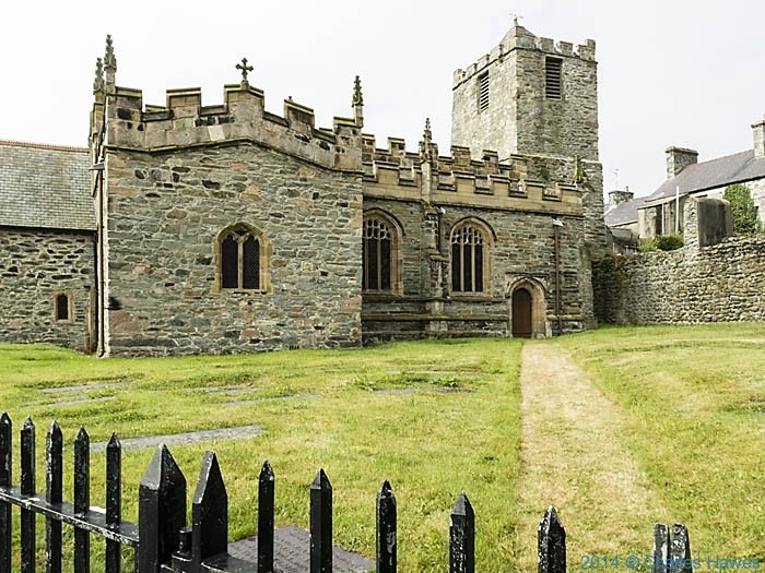 St Cybi's church, Holyhead, photographed by Charles Hawes