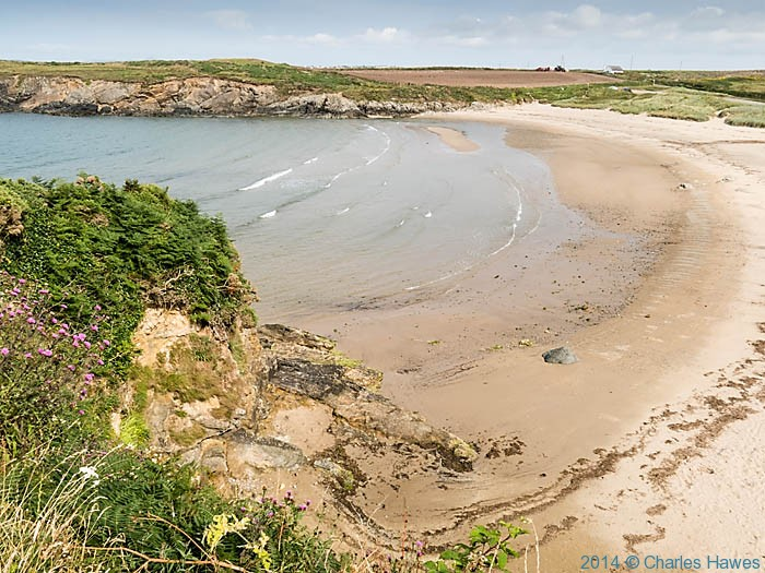 Porth Trecastell, Anglesey, photographed from the wales Coast Path by Charles Hawes