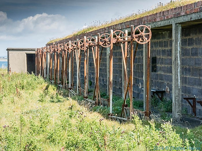 Disued firing range near rthe Anglesey Motor Racing Circuit, photographed by Charles Hawes