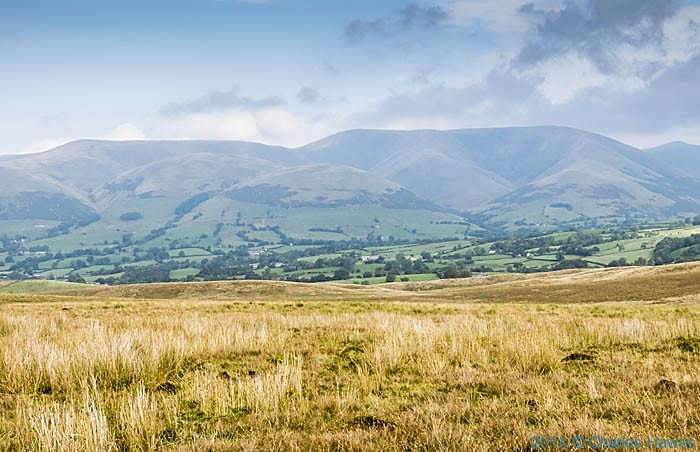 View to the Howgill Fells, photographed on ther approach to Sedburgh by Charles Hawes