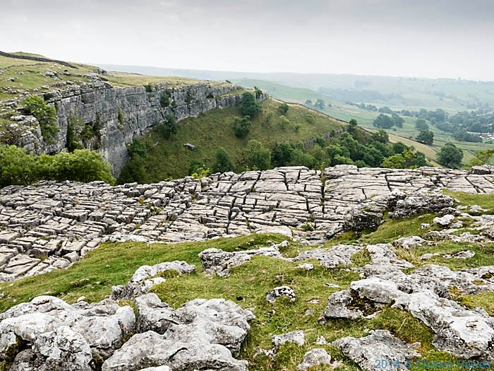 Limestone pavement above Malham Cove, Yorkshire Dales, photographed by Charles Hawes