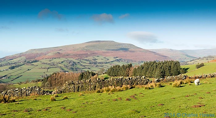 View to the Black Mountains from near Sugar Loaf, Abergavenny, Monmouthshire, photographed by Charles Hawes