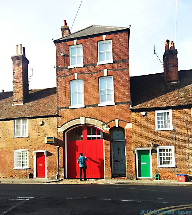 Entrance to the Old Fire Station, Canterbury, photographed by Charles Hawes