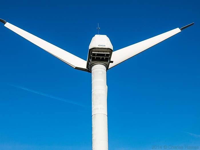 Wind Turbine near Sandwich, photographed by Charles Hawes