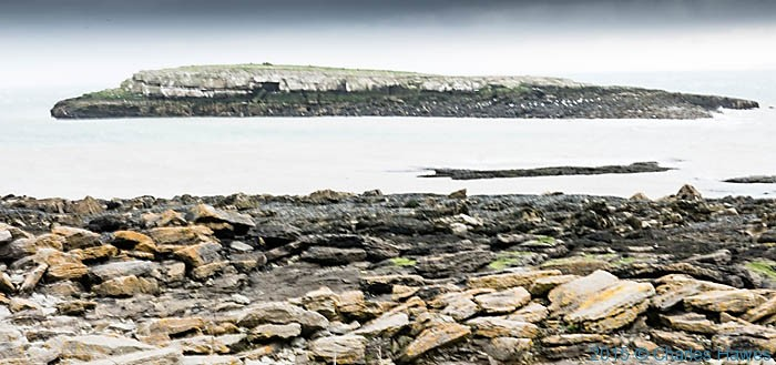 Ynys Moelfre, Anglesey, photographed from The Wales Coast Path by Charles Hawes
