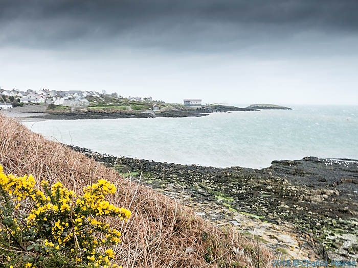 Porth Moelfre ,Anglesey, photographed from The Wales Coast Path by Charles Hawes