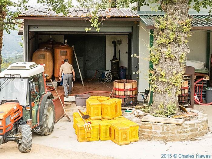 Samll winery at Lamole, Chianti, Tuscany, photographed from Lamole ring walk by Charles Hawes