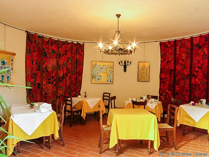 Brekfast room at Terre di Baccio, photographed by Charles Hawes