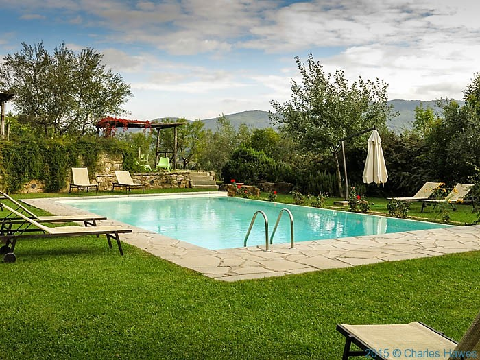 Swimming pool at Terre di Baccio, near Greve in Chianti, photographed by Charles Hawes