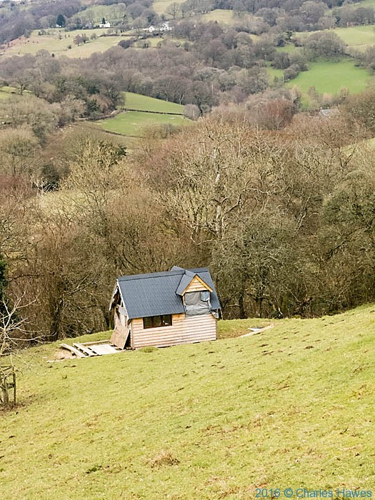Deri Cottage, near Forest Coalpit, photographed from The Cambrian Way by Charles Hawes