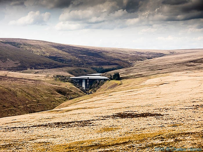 Grwyne Fawr reservoir, photographed from The Cambrian Way by Charles Hawes
