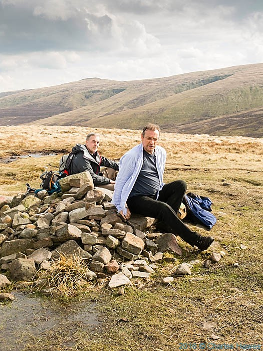 Cairn on the Cambrian Way near Twyn Tal Cefn, photographed by Charles Hawes