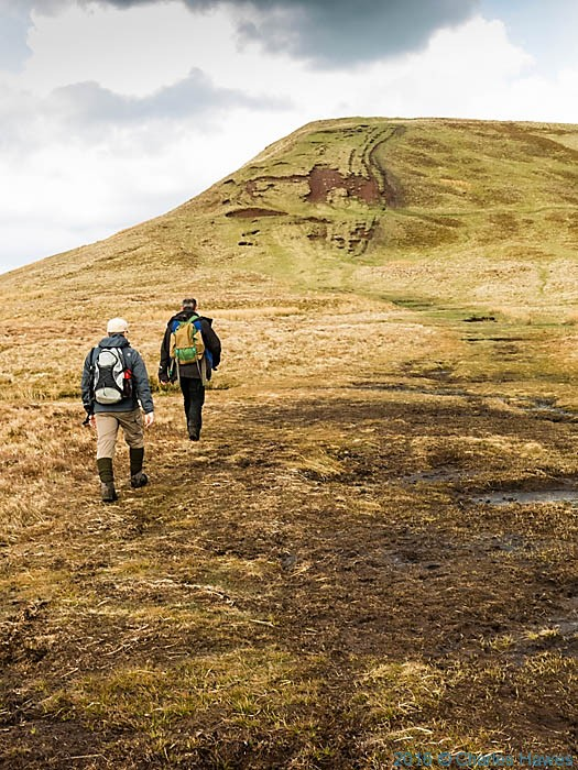 Climbing Lord Hereford's Knob, photographed from The Cambrian Way by Charles Hawes