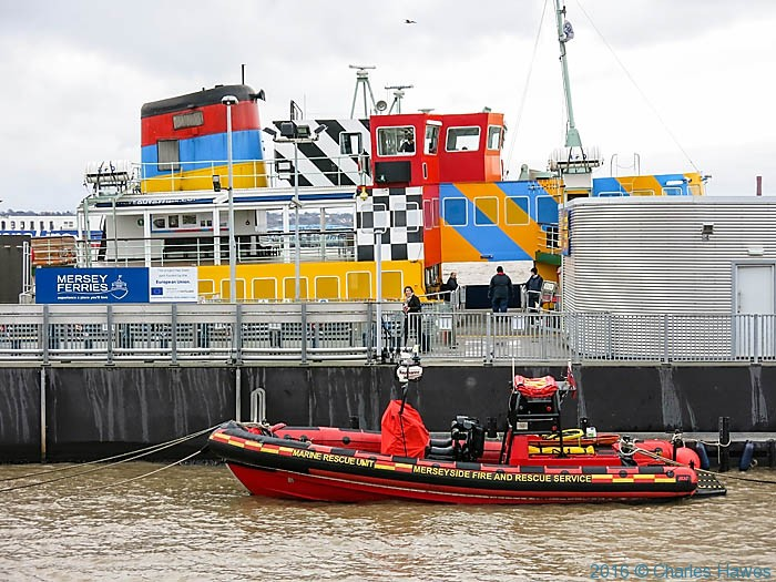 The Razzle Dazzle ferry, Liverpool, photographed by Charles Hawes