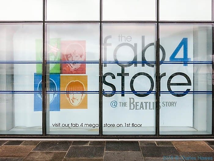 Fab 4 store, Liverpool waterfront, photographed by Charles Hawes