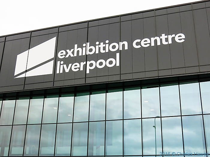 Exhibition Centre, Liverpool waterfront, photographed by Charles Hawes