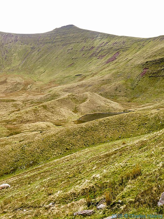 View to Corn Du, Brecon Beacons photographed by Charles Hawes
