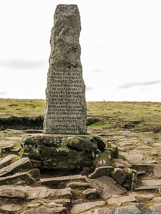 Tommy Jones Memorial, Corn Du, Brecon Beacons, photographed by Charles Hawes