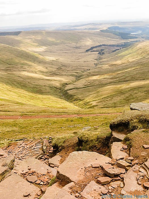 View to Upper Neuadd Reservoir, photographed by Charles Hawes