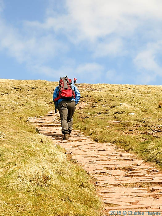 Path between Pen y Fan and Cribyn, photographed by Charles Hawes