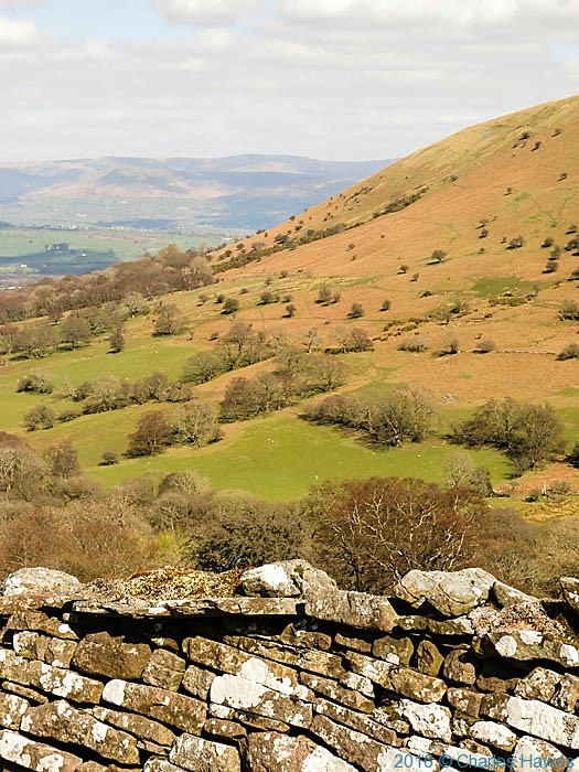 View from the gap road below Cribyn, photographed by Charles Hawes