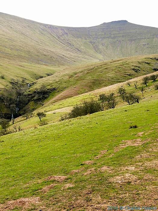 Corn Do from near Cwm Llwch, photographed by Charles Hawes