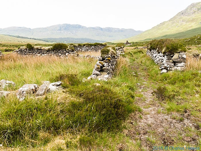 Ruined walls in Gleann na Guiserein, Knoydart, Scotland, photographed by Charles Hawes