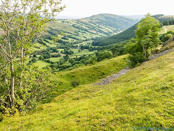 The Dyffryn Crawnon Valley, Brecon Beacons, photographed from The Cambrian Way by Charles Hawes