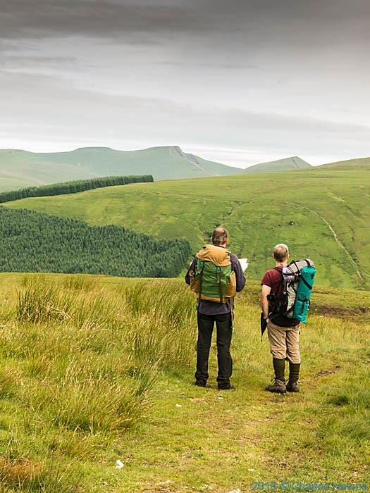 View to Pen y Fan from Pant Y Creigiau, photographed from The Cambrian Way by Charles Hawes