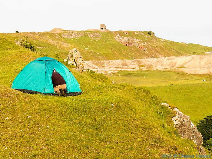 Wild camping above the Dyffryn Crawnon Valley, Brecon Beacons. photographed from The Cambrian Way by Charles Hawes