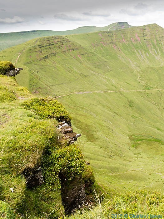 View from Fan y Big to Cribyn, Pen y Fan and Corn Du, photographed by Charles Hawes