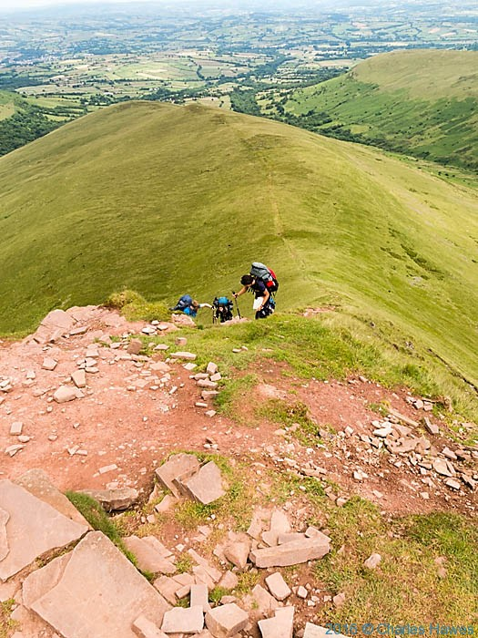 The shoulder of Cribyn, Brecon Beacons, photographed by Charles Hawes