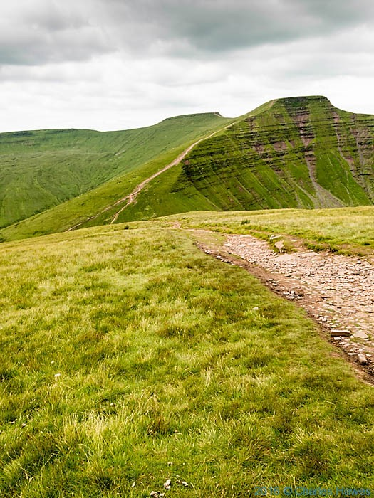 View to Pen Y Fan from Cribyn, Brecon Beacons, photographed by Charles Hawes