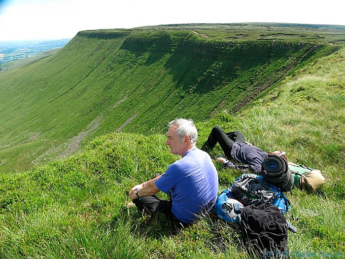 Charles Hawes on the Cambrian Way near Gwaun Cerrig Llwydion, photographed by Paul Steer