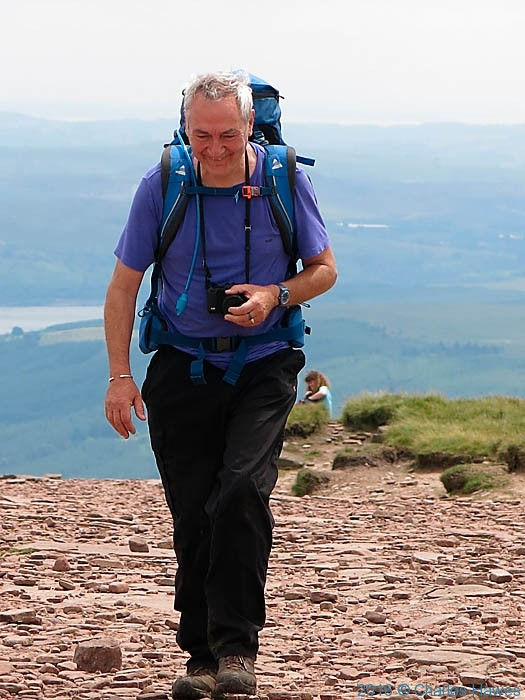 Charles Hawes on Pen Y Fan, Brecon Beacons, photographed by Paul Steer